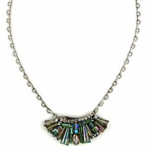 Jewelry - Unique Artisan Crafted Beaded Fan Necklace, NWT